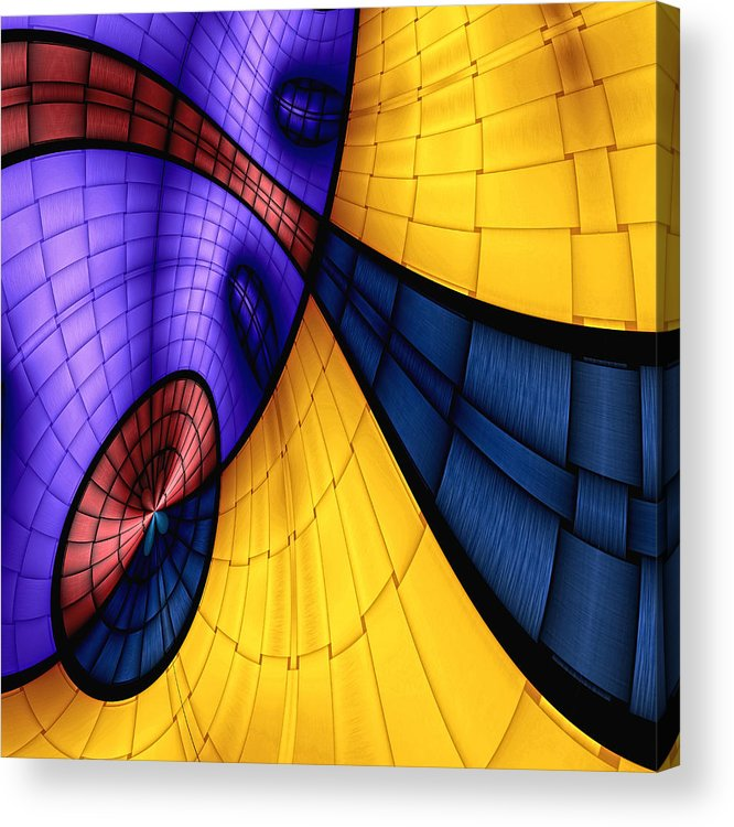 Abstract Acrylic Print featuring the digital art View From The Top 2 by Wendy J St Christopher