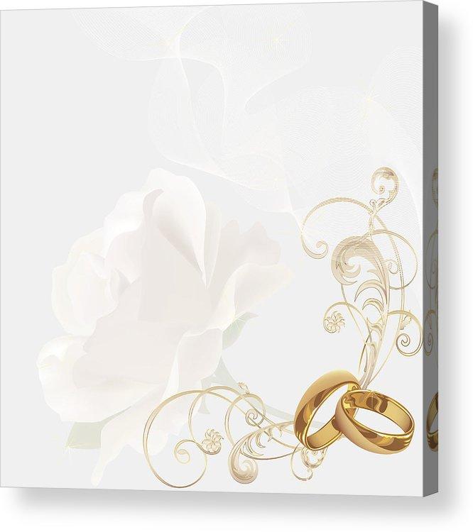 Wedding Invitation Background Acrylic Print