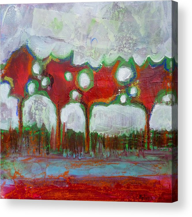 Acrylic Acrylic Print featuring the painting Winter Day Walk by Sandrine Pelissier