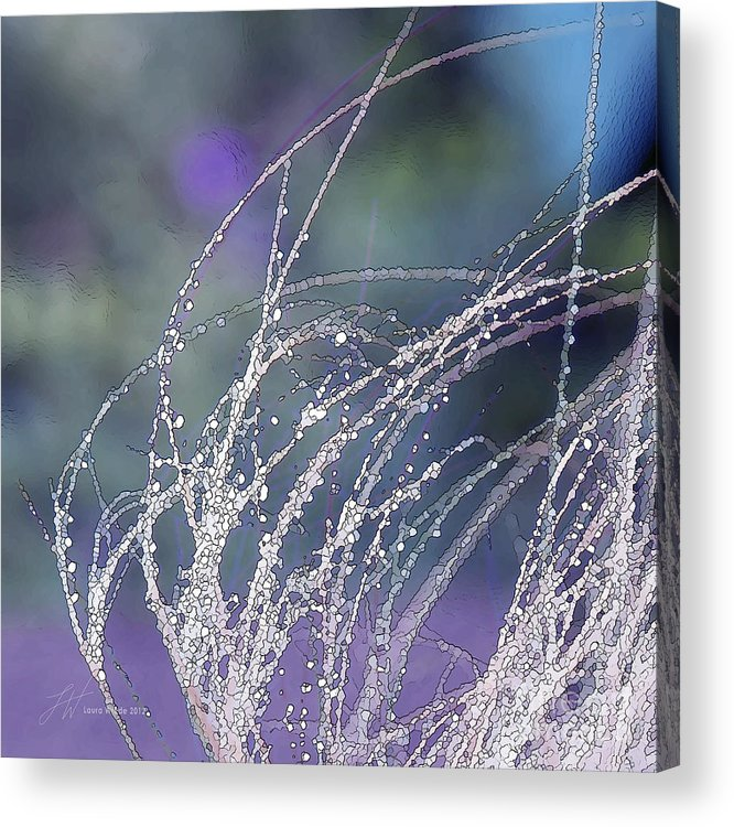 Grass Acrylic Print featuring the painting Winter Grass by Artist and Photographer Laura Wrede