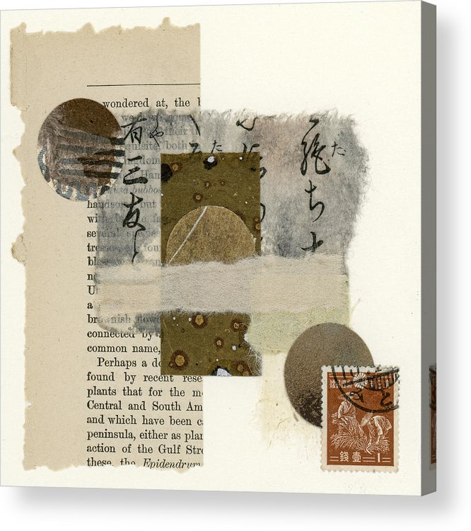 Collage Acrylic Print featuring the mixed media Wondered At by Carol Leigh