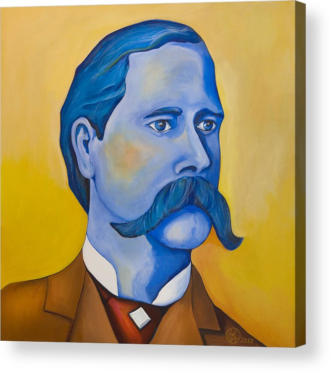 Wyatt Earp Acrylic Print featuring the painting Wyatt Earp by Robert Lacy