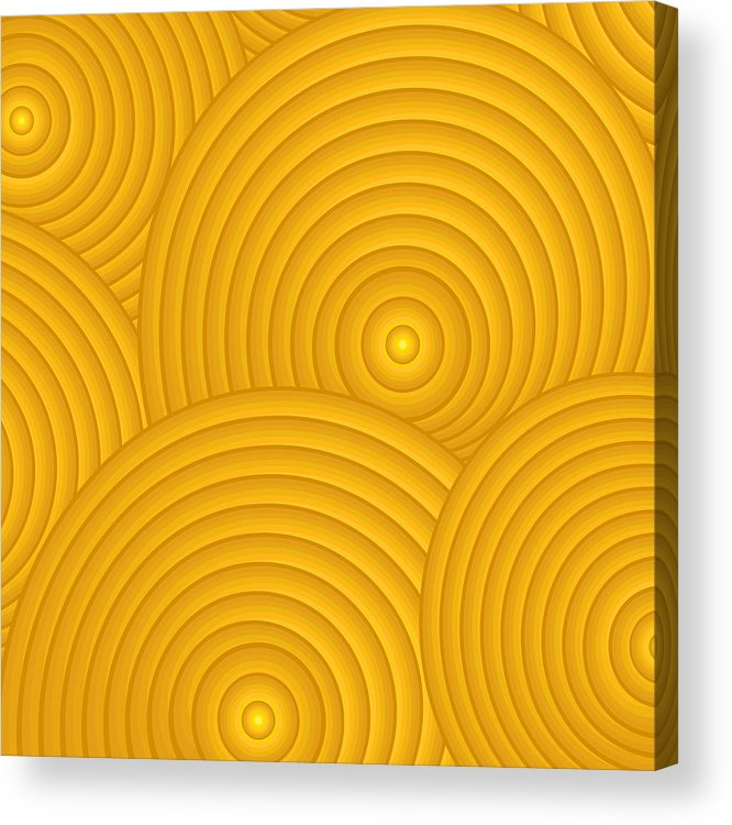 Frank Tschakert Acrylic Print featuring the painting Yellow Abstract by Frank Tschakert