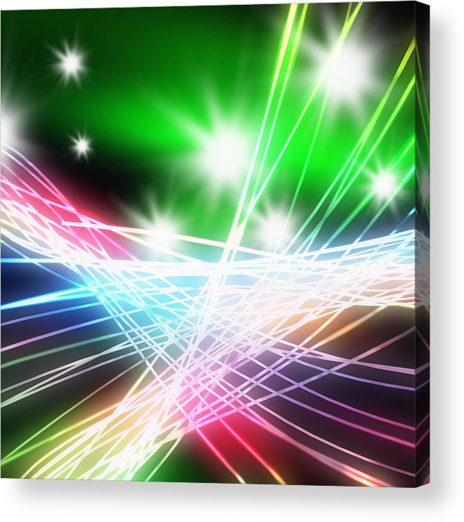 Abstract Acrylic Print featuring the photograph Abstract Of Stage Concert Lighting by Setsiri Silapasuwanchai