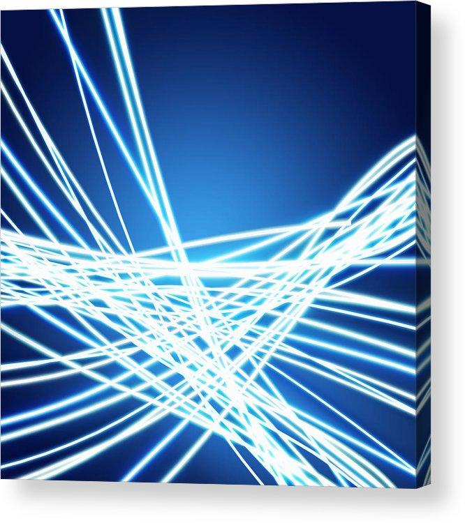 Abstract Acrylic Print featuring the photograph Abstract Of Weaving Line by Setsiri Silapasuwanchai