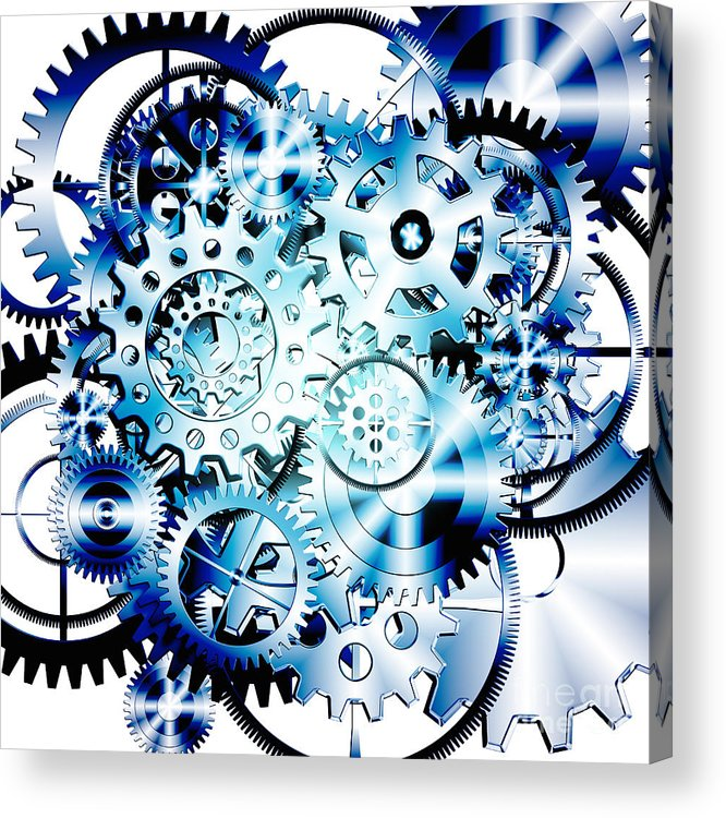 Art Acrylic Print featuring the photograph Gears Wheels Design by Setsiri Silapasuwanchai