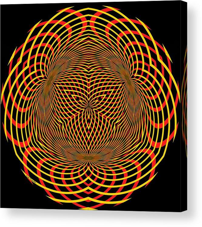 Digital Acrylic Print featuring the digital art 709 by Rick Thiemke