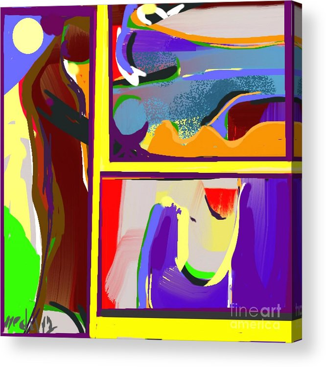 Paintings Acrylic Print featuring the painting A Gallery by Nedunseralathan R