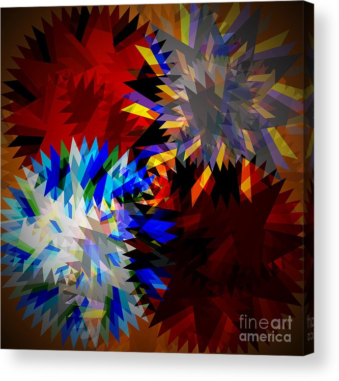 Allure Acrylic Print featuring the digital art Allure Blade by Atiketta Sangasaeng