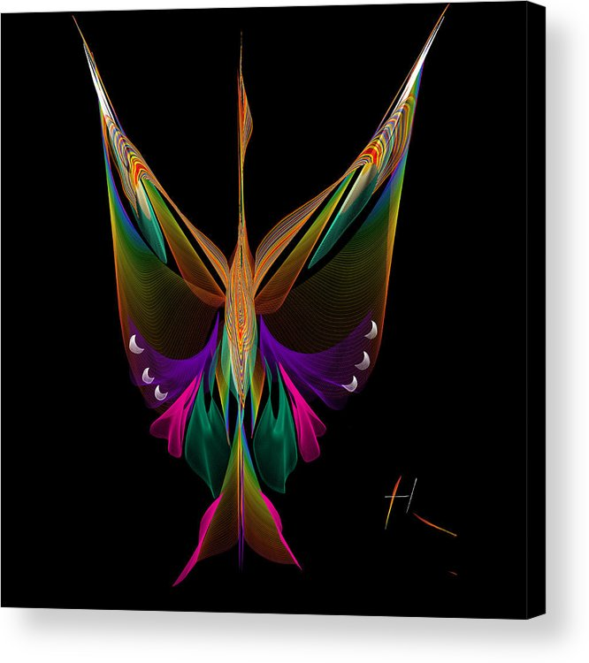 Abstract Acrylic Print featuring the digital art Anka by Hayrettin Karaerkek