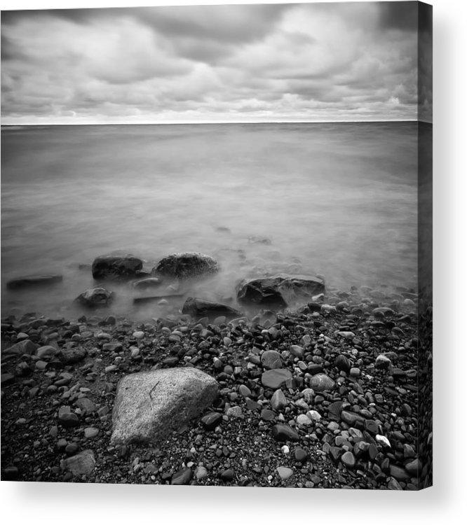 Darren Creighton Acrylic Print featuring the photograph Bluffs Beach Wind 2 by Darren Creighton