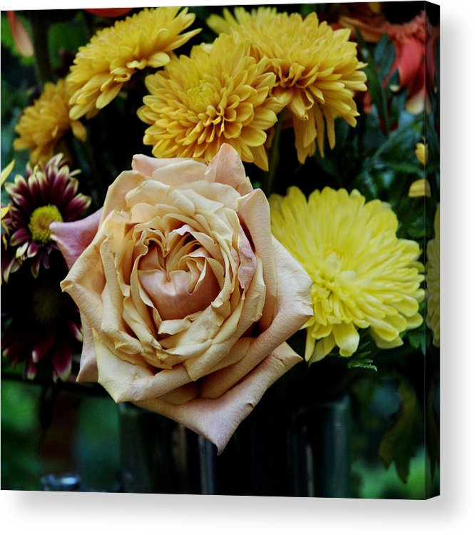 Rose Acrylic Print featuring the photograph Bouquet With Rose by Barry Doherty