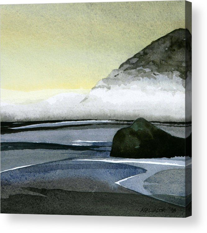 Watercolor Painting Acrylic Print featuring the painting California Coast Two by Andre Salvador