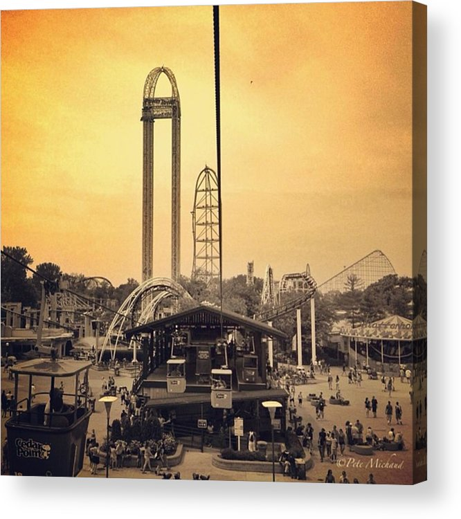 Cedarpoint Acrylic Print featuring the photograph #cedarpoint #ohio #ohiogram #amazing by Pete Michaud