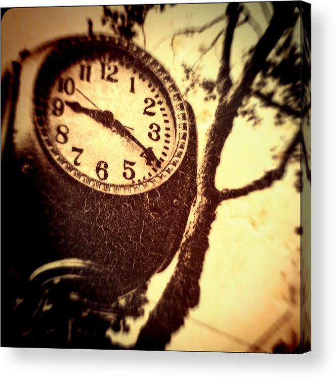 Clock Acrylic Print featuring the photograph Clock In San Francisco by Susan Stone