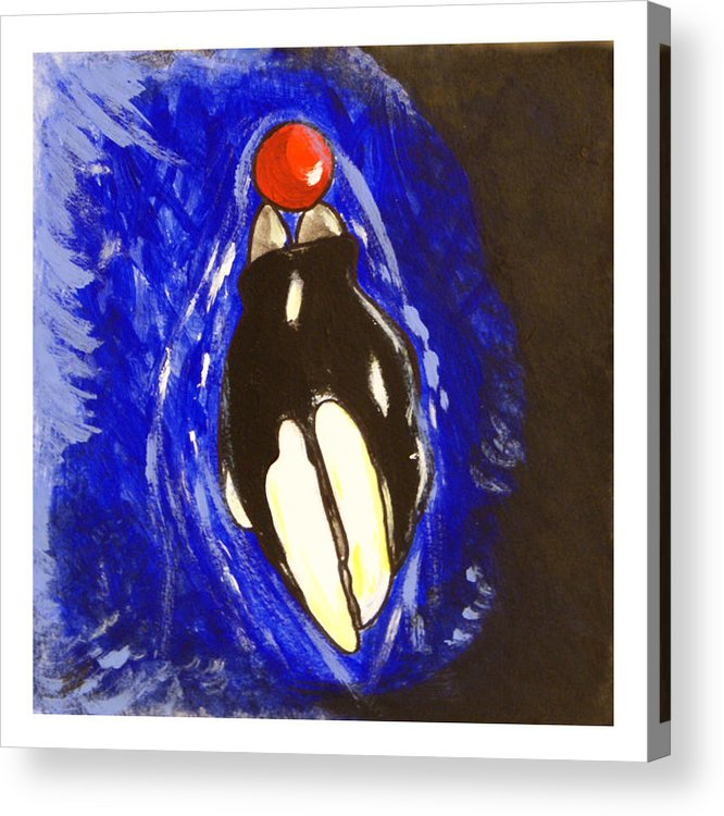 Ball Acrylic Print featuring the painting Dolphins by Tony Nilsson