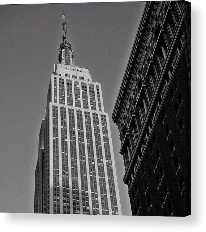 Building Acrylic Print featuring the photograph #empirestate #empire #usa #newyorker by Joel Lopez