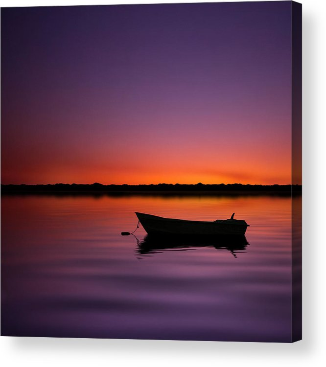 Square Acrylic Print featuring the photograph Enjoying Serenity by Carlos Gotay