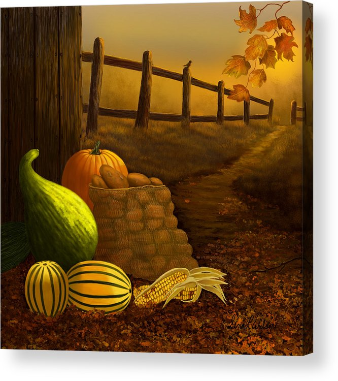 Fall Acrylic Print featuring the painting Fall Harvest by Sena Wilson