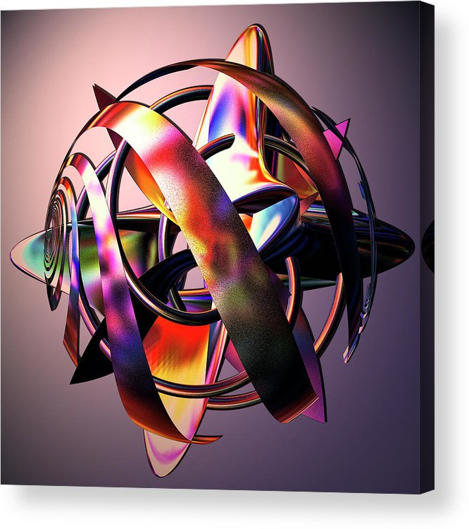 1st Place In Faa Avatar Contest. Acrylic Print featuring the digital art Fractal Abstract Viii by Tyler Robbins