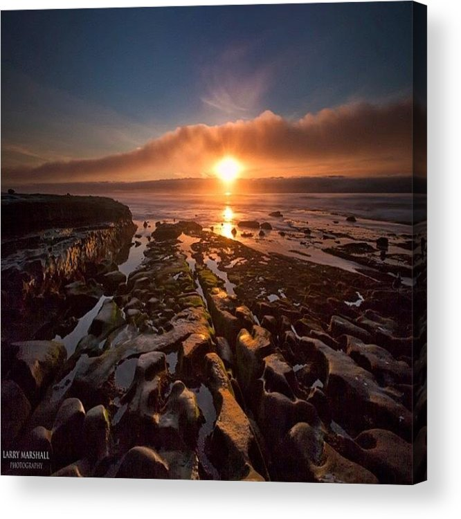 Acrylic Print featuring the photograph Long Exposure Sunset In La Jolla by Larry Marshall