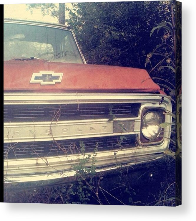 Antique Acrylic Print featuring the photograph #old #antique #truck #chevrolet #car by Seth Stringer