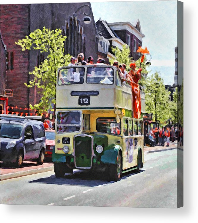 Stock Acrylic Print featuring the digital art Party Bus by Martin Fry