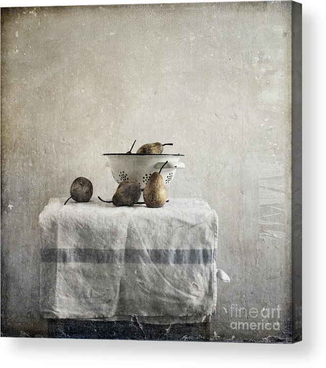 Pears Under Grunge Textures Acrylic Print featuring the photograph Pears Under Grunge by Paul Grand