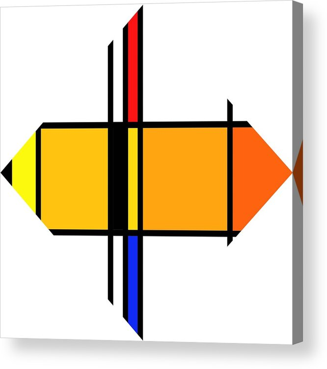 Mondrian Acrylic Print featuring the digital art Pencil Figure by Charles Stuart