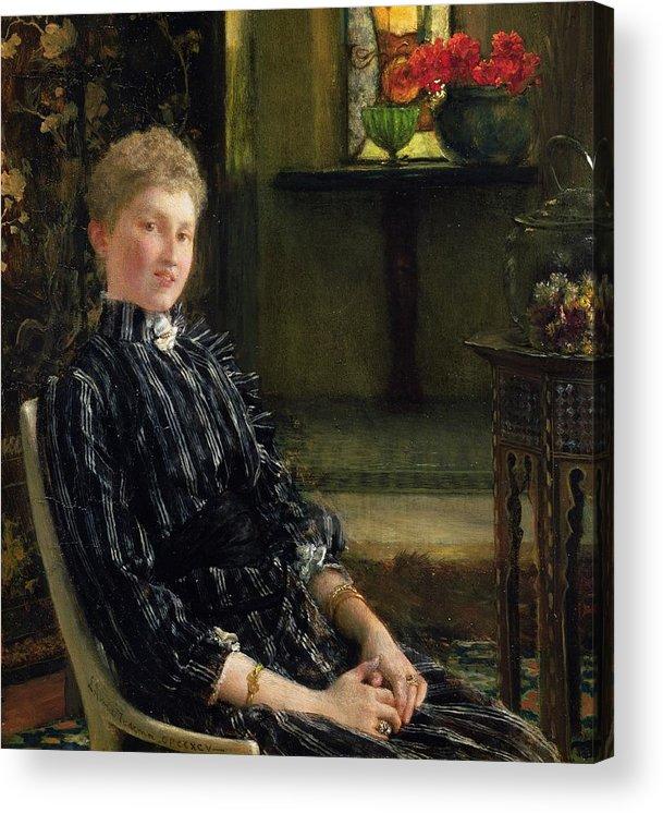 Portrait Of Mrs Ralph Sneyd Acrylic Print featuring the painting Portrait Of Mrs Ralph Sneyd by Sir Lawrence Alma-Tadema