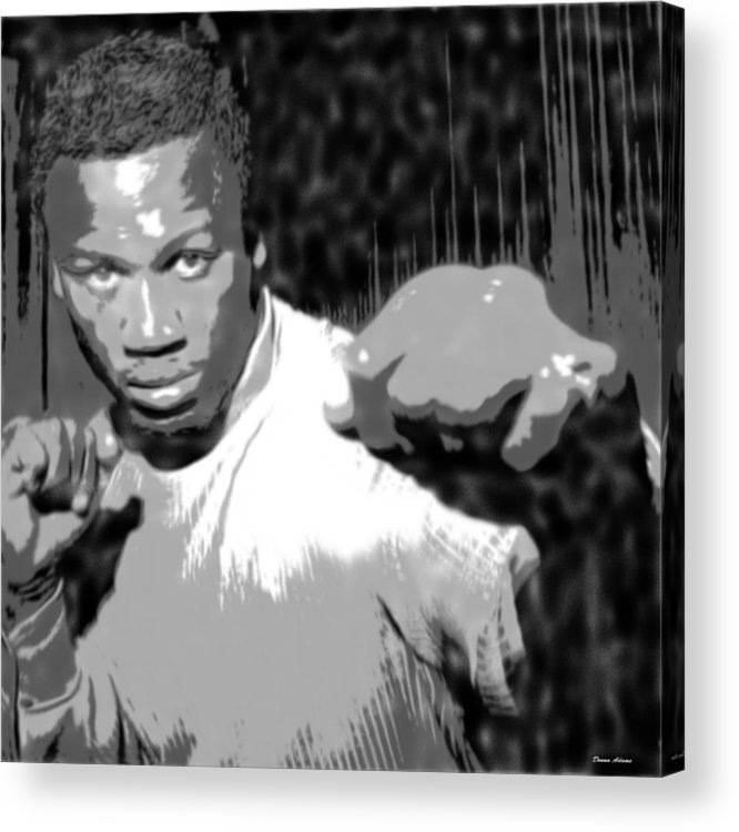 Portraits Acrylic Print featuring the digital art Simply Joe by Donna Adams