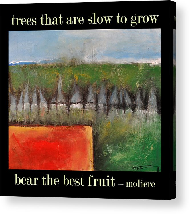 Trees Acrylic Print featuring the painting Trees That Are Slow To Grow Poster by Tim Nyberg