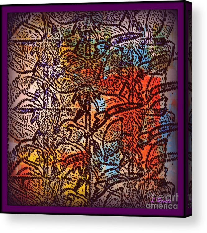 Abstract Acrylic Print featuring the digital art Wall Paper Abstract by Leslie Revels