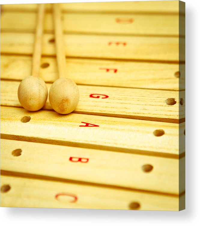 Beaters Acrylic Print featuring the photograph Xylophone by Tom Gowanlock