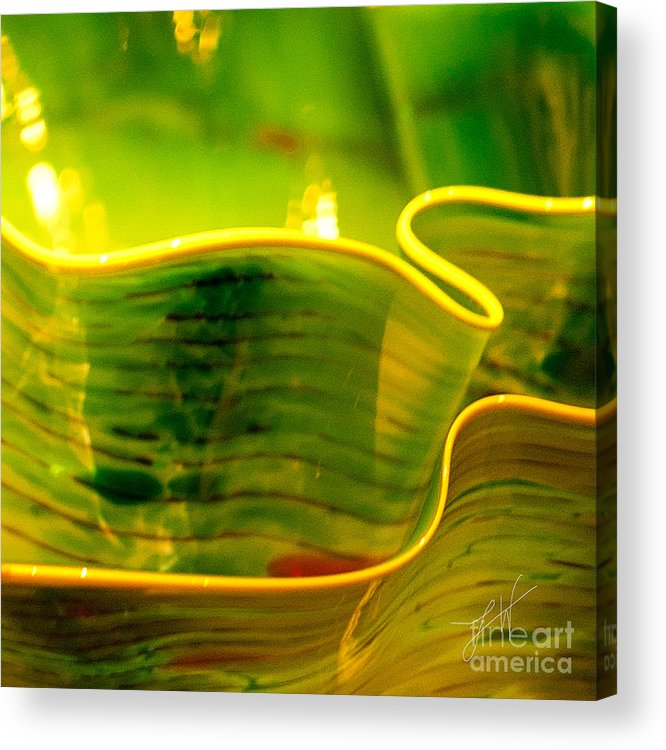 Photographs Acrylic Print featuring the photograph Yellow And Green by Artist and Photographer Laura Wrede