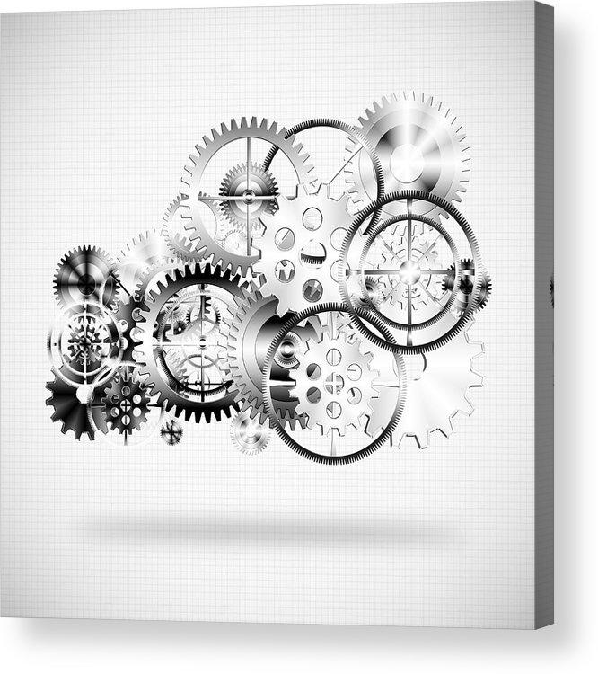 Art Acrylic Print featuring the photograph Cloud Made By Gears Wheels by Setsiri Silapasuwanchai
