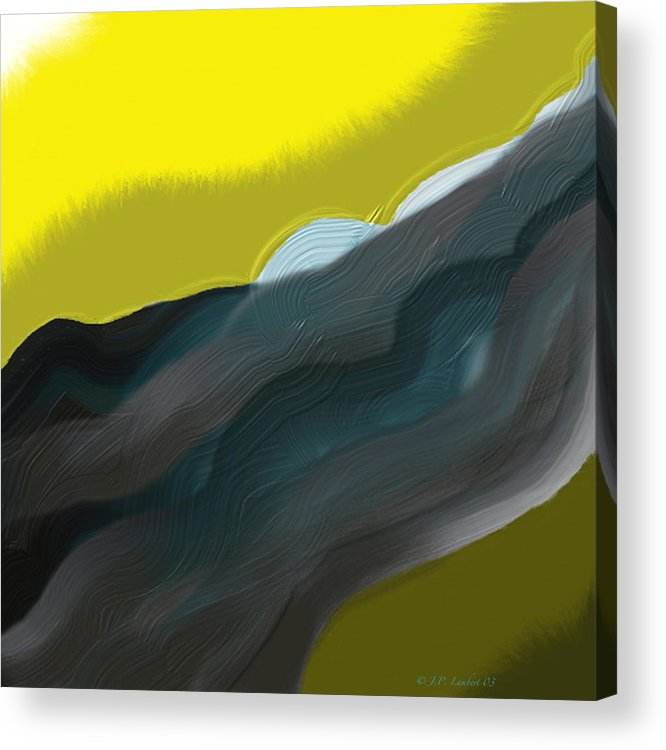 Digital Acrylic Print featuring the digital art Flow by J P Lambert