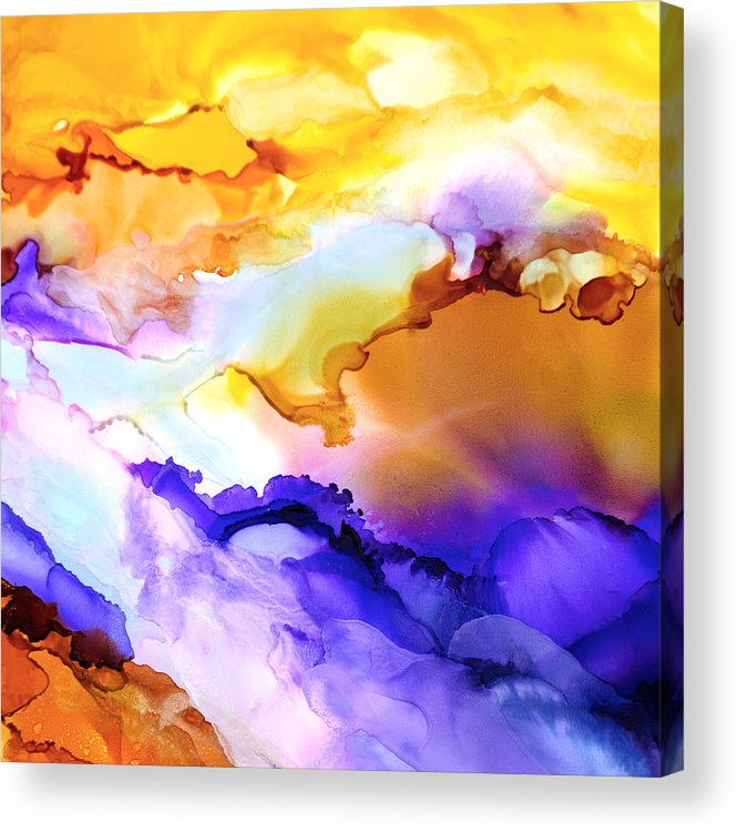 Abstract Acrylic Print featuring the painting Intrepid Adventure - D - by Sandy Sandy
