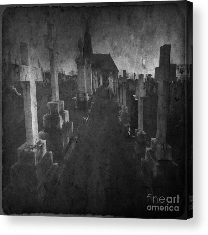 Graveyard Acrylic Print featuring the photograph The Graveyard by Angel Ciesniarska