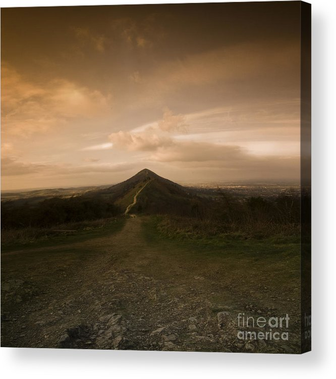 Hill Acrylic Print featuring the photograph The Malvern Hills by Angel Ciesniarska