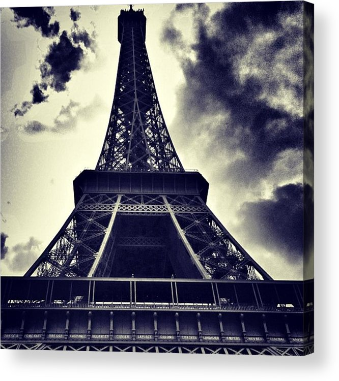 Instaaddict Acrylic Print featuring the photograph #paris by Ritchie Garrod