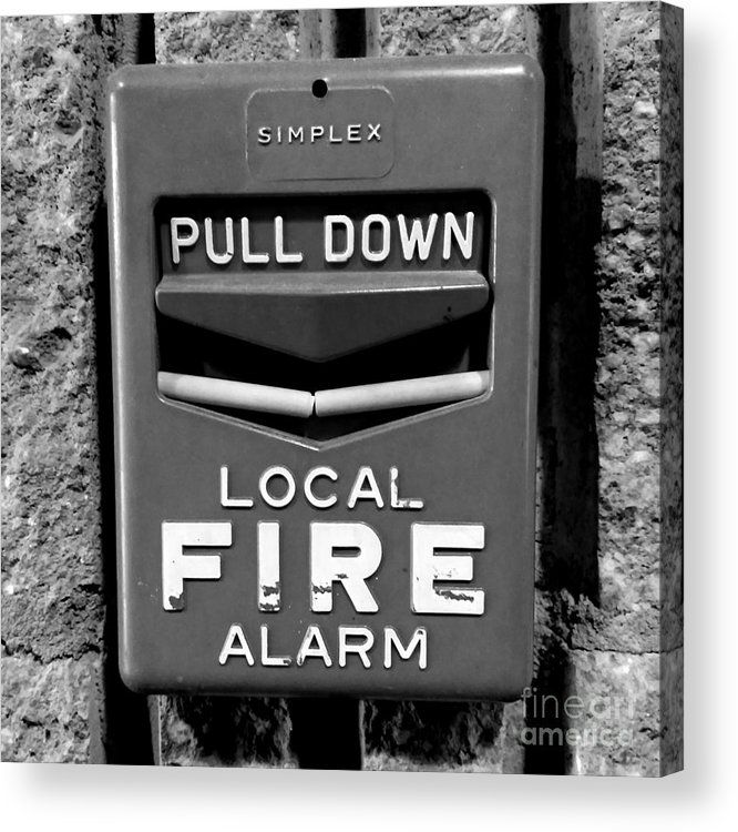 simplex fire alarm pull station acrylic print by ben schumin