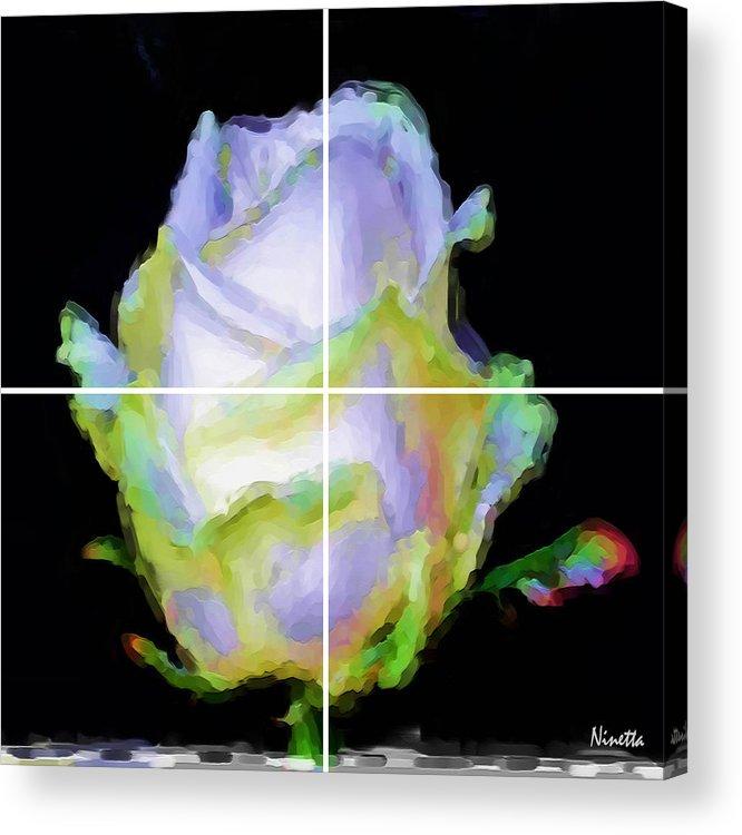 Flower Acrylic Print featuring the digital art 5. Innocence Artwork In Poster by Andrea N Hernandez