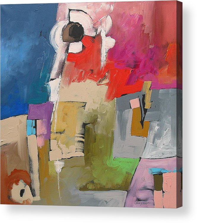 Original Acrylic Print featuring the painting A Bizarre Incident by Linda Monfort