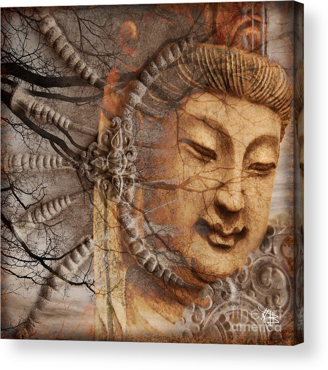 Guan Yin Acrylic Print featuring the digital art A Cry Is Heard by Christopher Beikmann