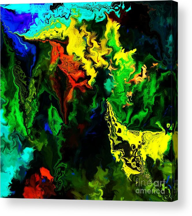 Abstract Acrylic Print featuring the digital art Abstract 2-23-09 by David Lane