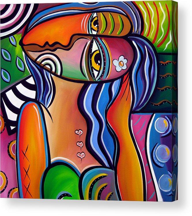 Abstract Pop Art Original Painting Shabby Chic Acrylic Print