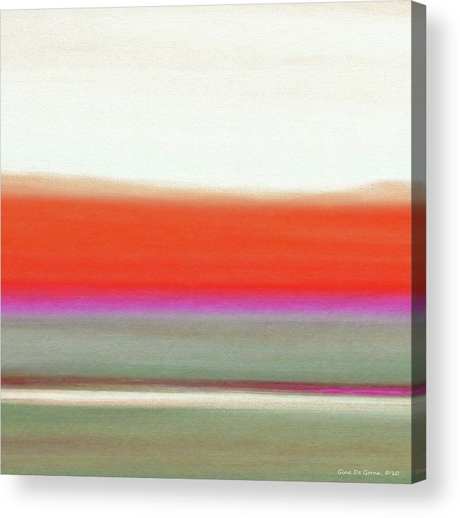 Brown Acrylic Print featuring the painting Abstract Sunset 63 by Gina De Gorna