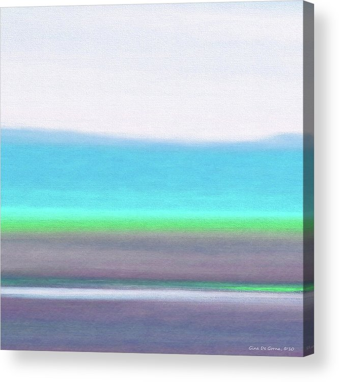 Brown Acrylic Print featuring the painting Abstract Sunset 64 by Gina De Gorna