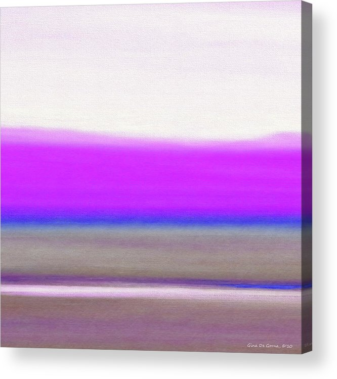 Brown Acrylic Print featuring the painting Abstract Sunset 65 by Gina De Gorna